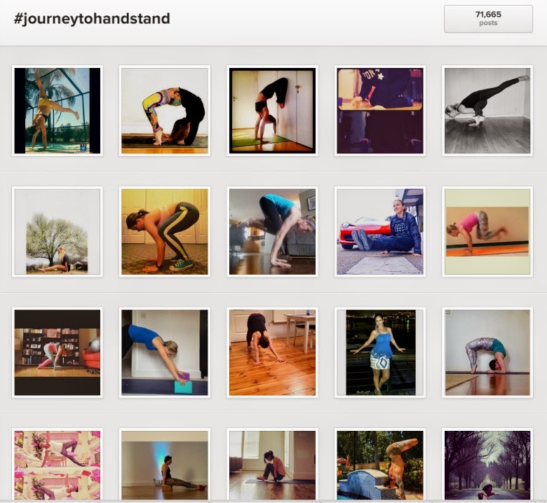 Journey to handstand Instagram challenge