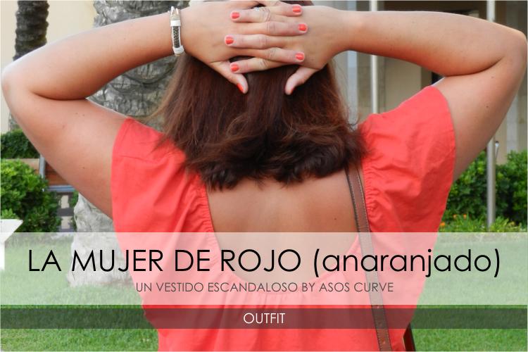 La Mujer de Rojo (anaranjado) · Outfit