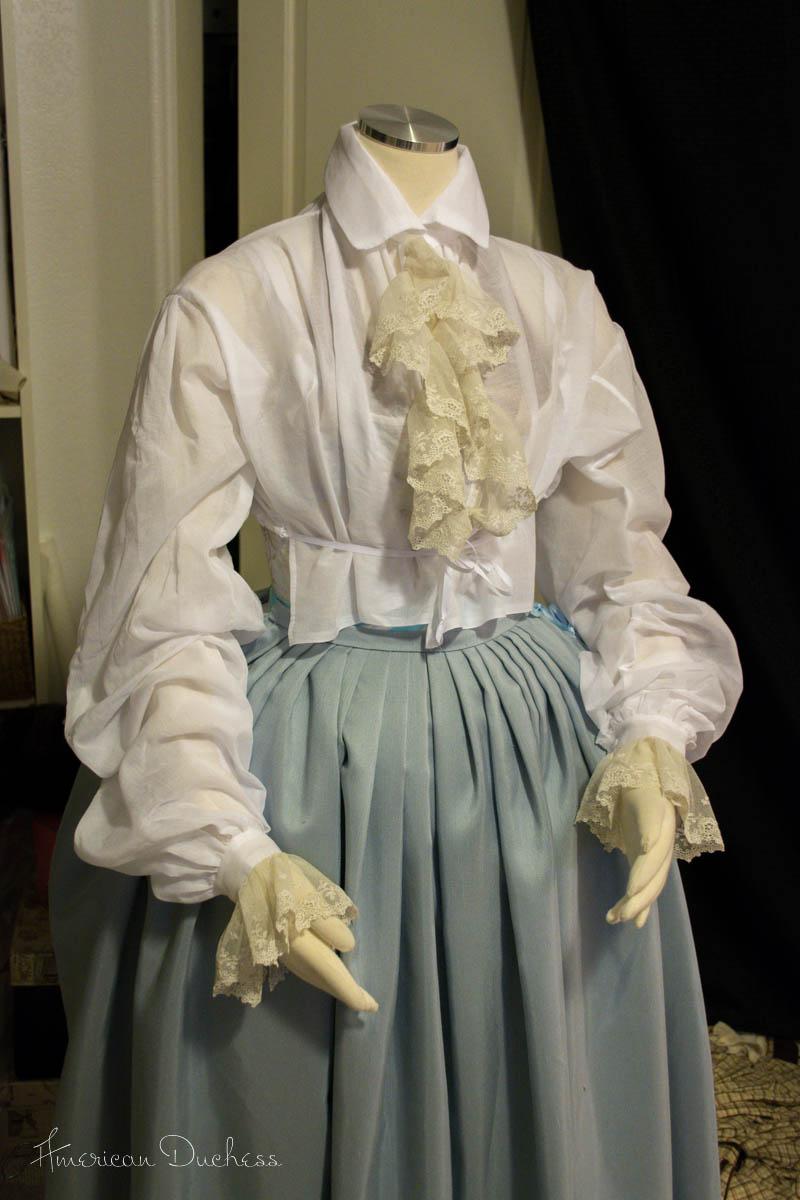 1740s Riding Habit Waistcoat and Shirt ~ American Duchess
