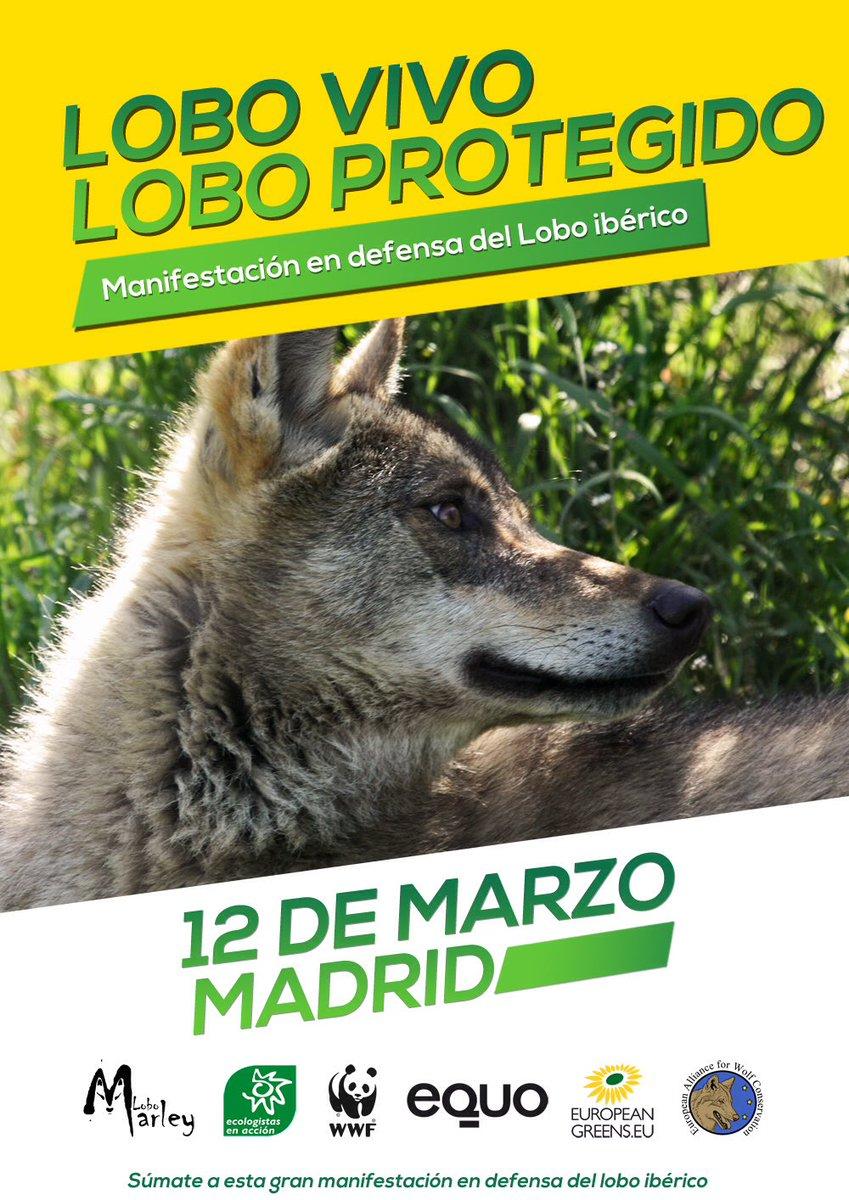 MANIFESTACIÓN POR EL LOBO IBÉRICO - 12 MARZO 2017