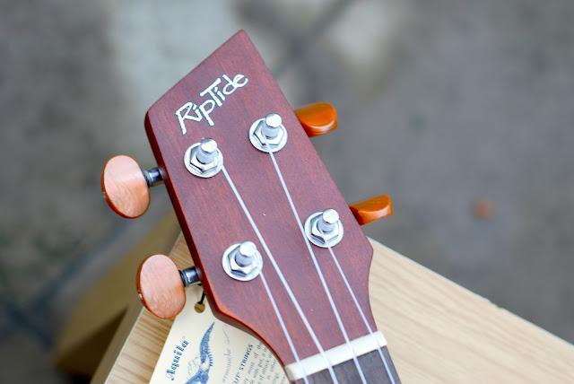 Riptide EUC-5NS concert ukulele headstock