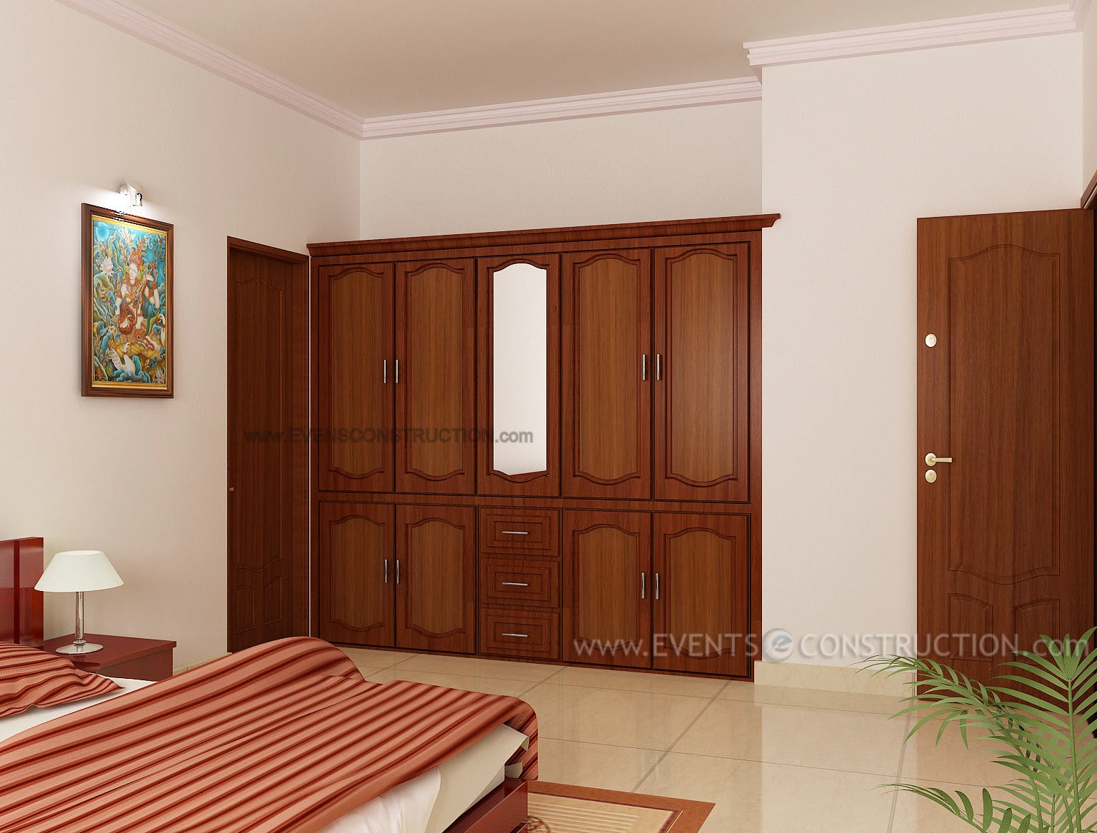 Evens Construction Pvt Ltd Wardrobe For Master Bedroom