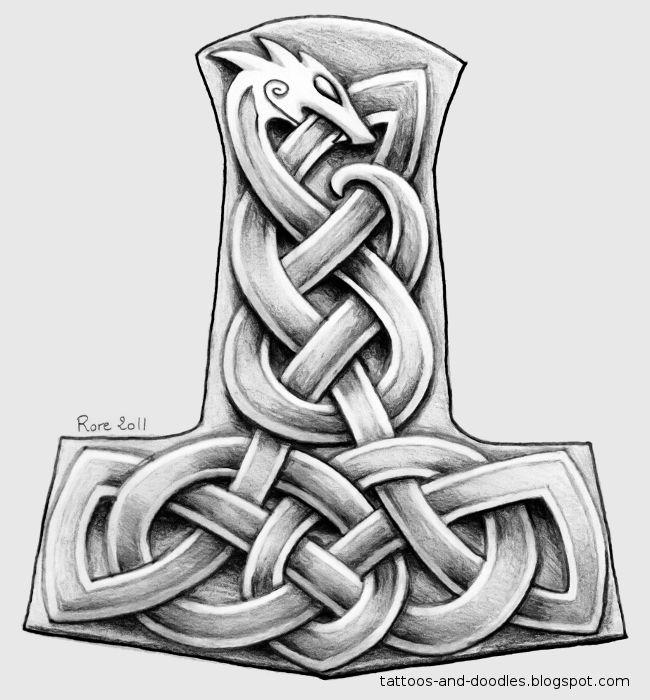 Tattoos And Doodles Mjolnir