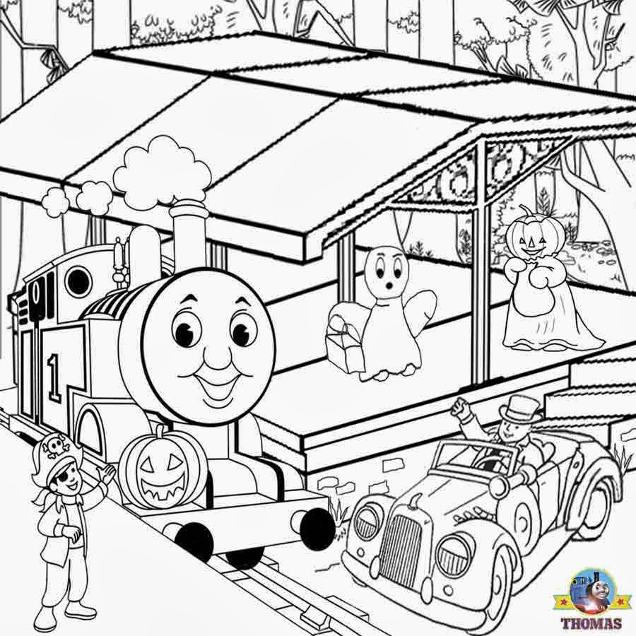 Thomas the train halloween coloring - Found Throughout The Internet I Do Not Own Any Of These Images