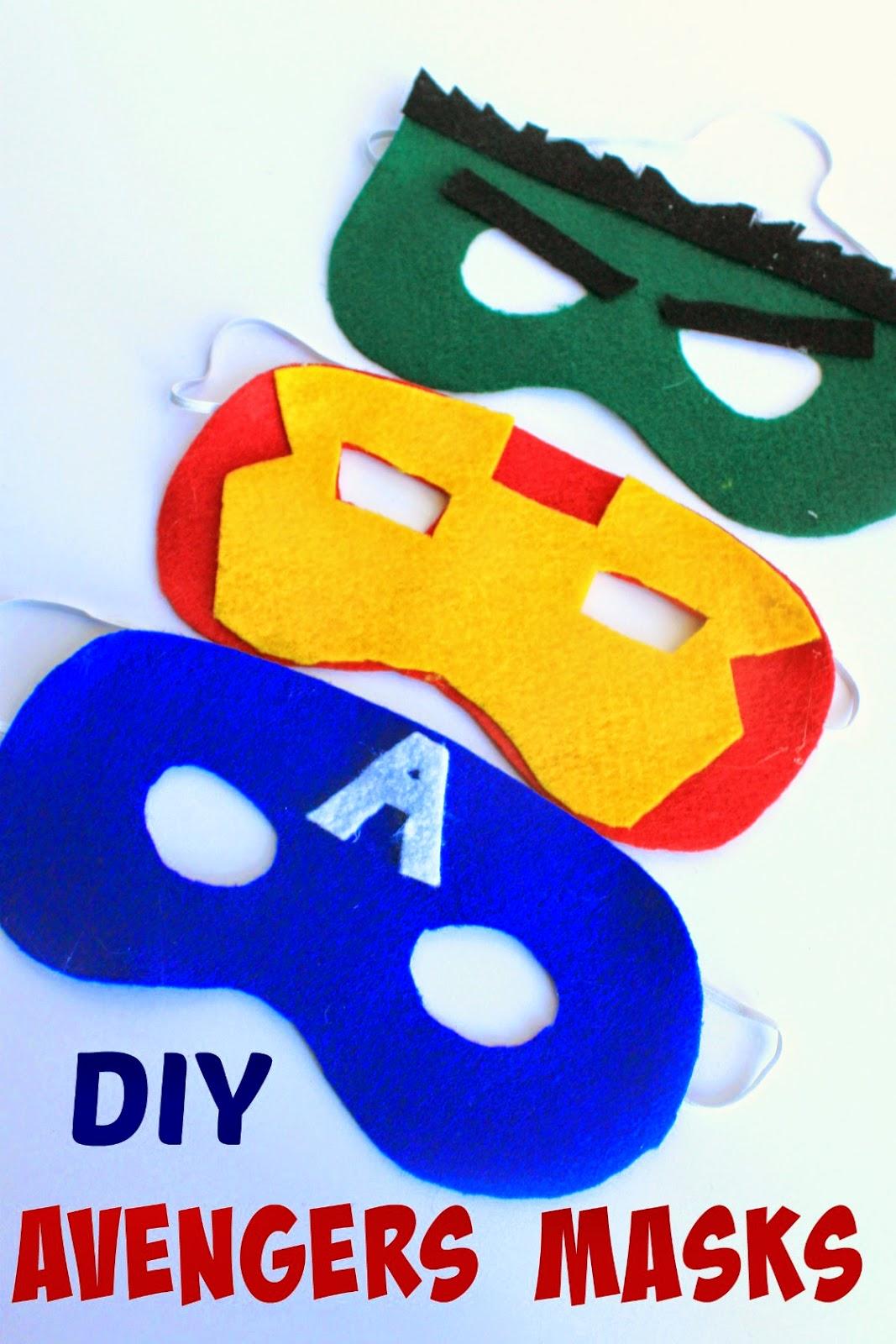 DIY Avengers Masks with patterns #AvengersUnite #ad