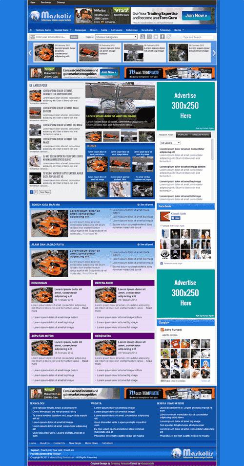 Blog validasi Mskolis Template