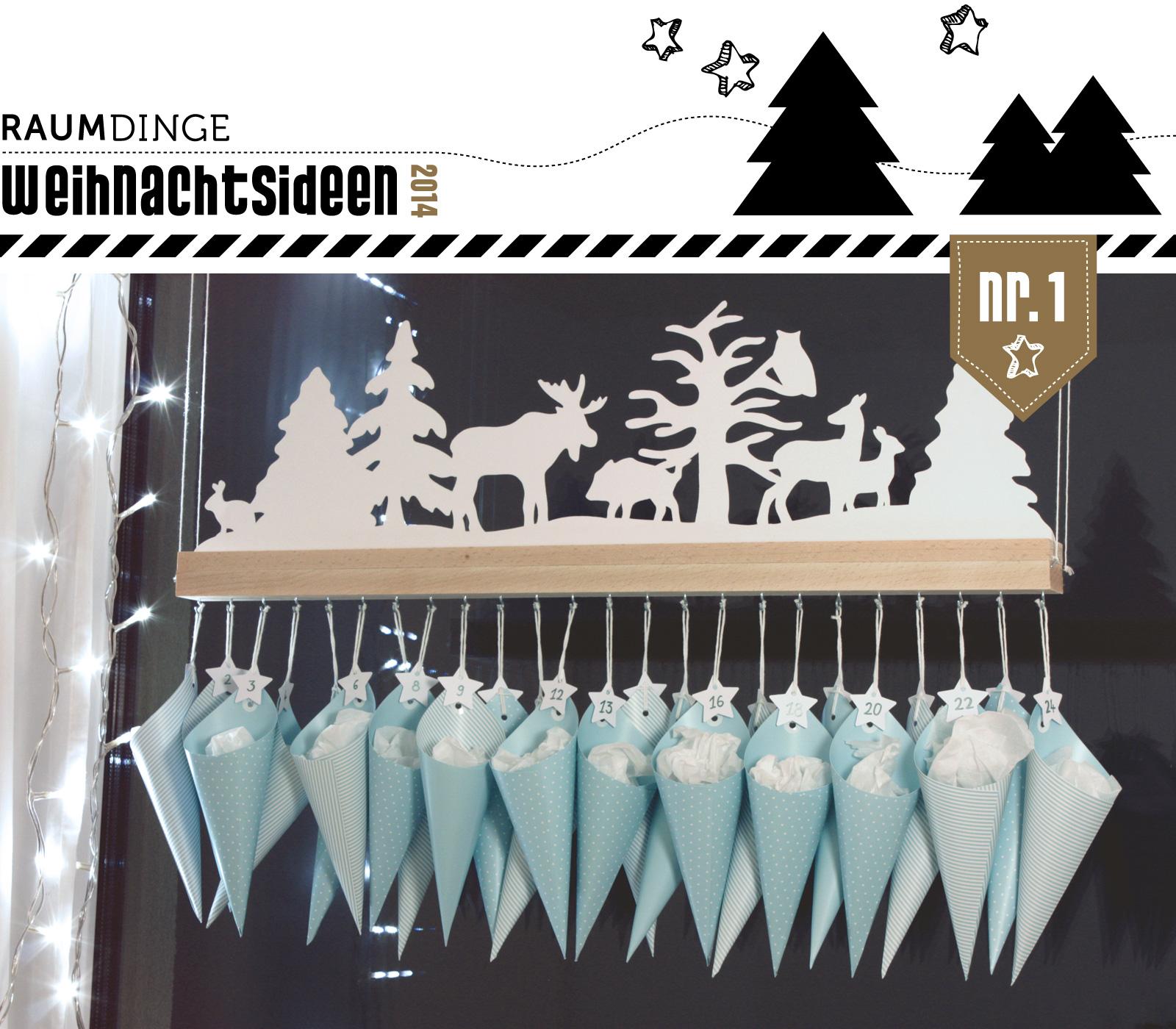 Raumdinge Adventskalender Winterwald Mit Anleitung