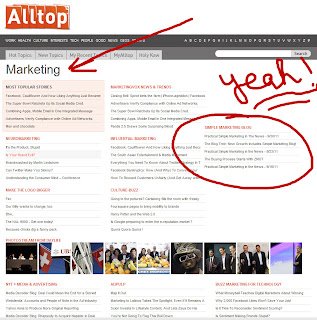 Alltop and Simple Marketing Blog: Yeah, Baby!