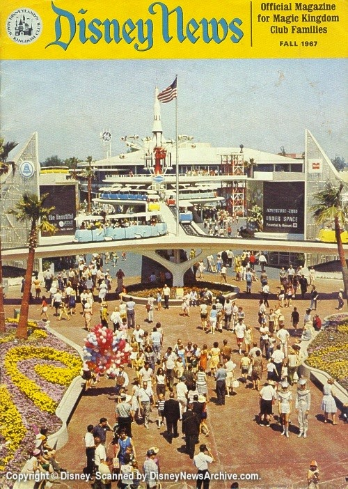 Tomorrowland entrance Disney News, Fall 1967