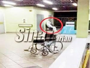 Thumbnail image for (Gambar) Pocong 'Berehat' Di Hospital