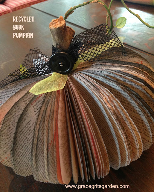 Recycled Book Pumpkin; Pumpkin Craft Project