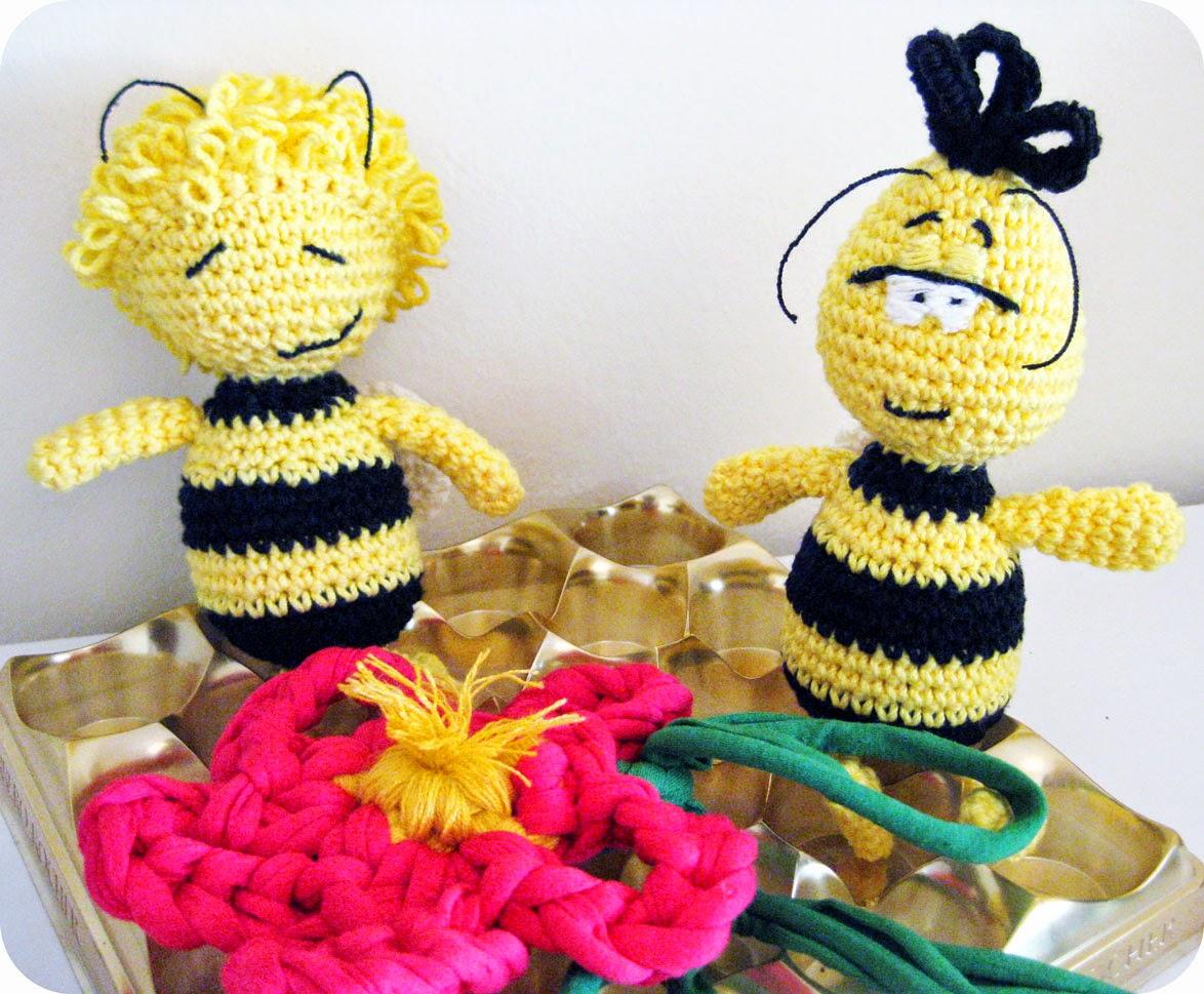 abella maia i willi en amigurumi