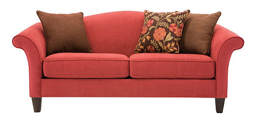 And Then The Abbie Sofa On For 599 99 84 From Pier 1 Is Very Luxe Looking In Rous Cranberry Velvet
