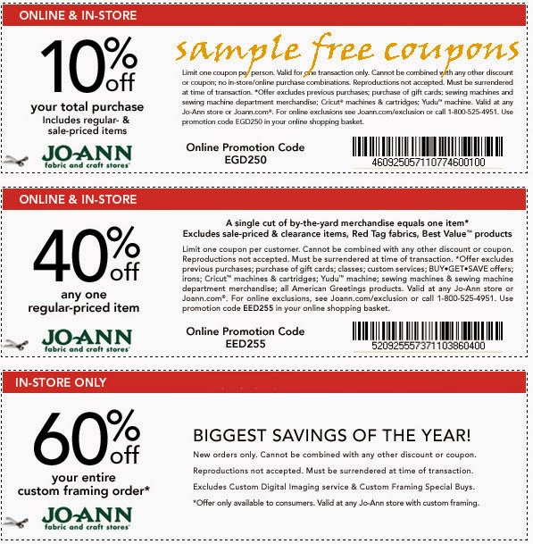Joann coupons com