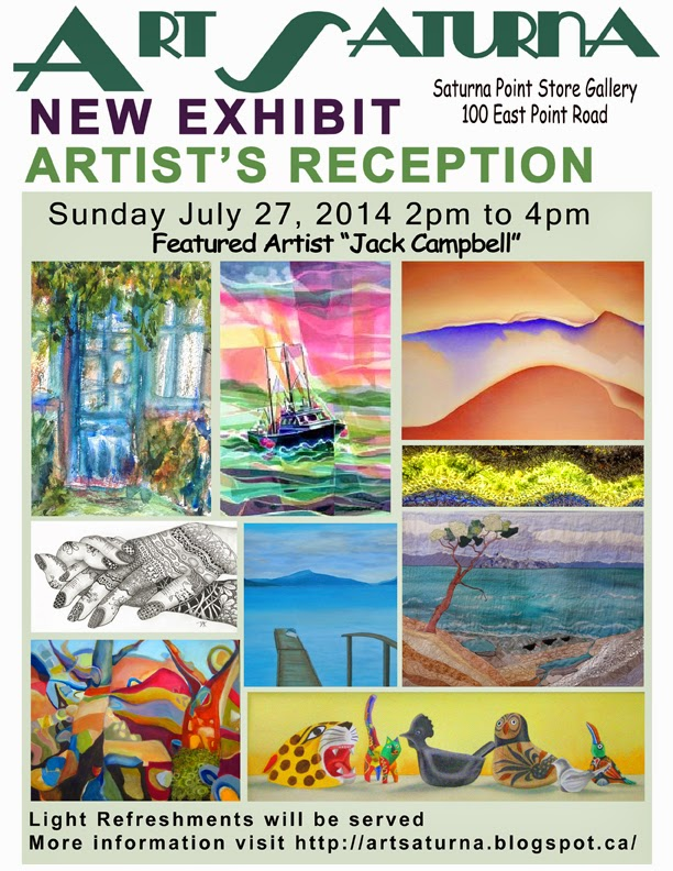 Art Saturna July-August 2014 New Exhibition featuring the work of Jack Campbell