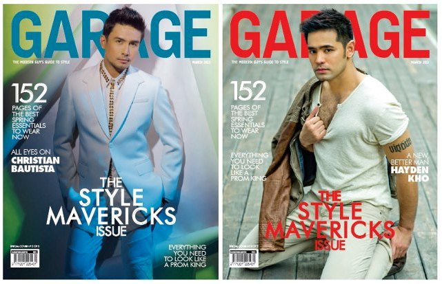 All Eyes on Christian Bautista on Garage cover; Hayden Kho is a new and better man on Garage cover