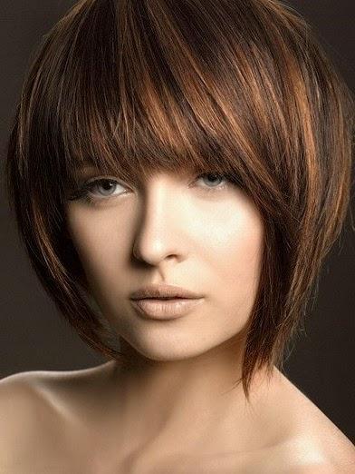 Gaya Rambut Warna Coklat