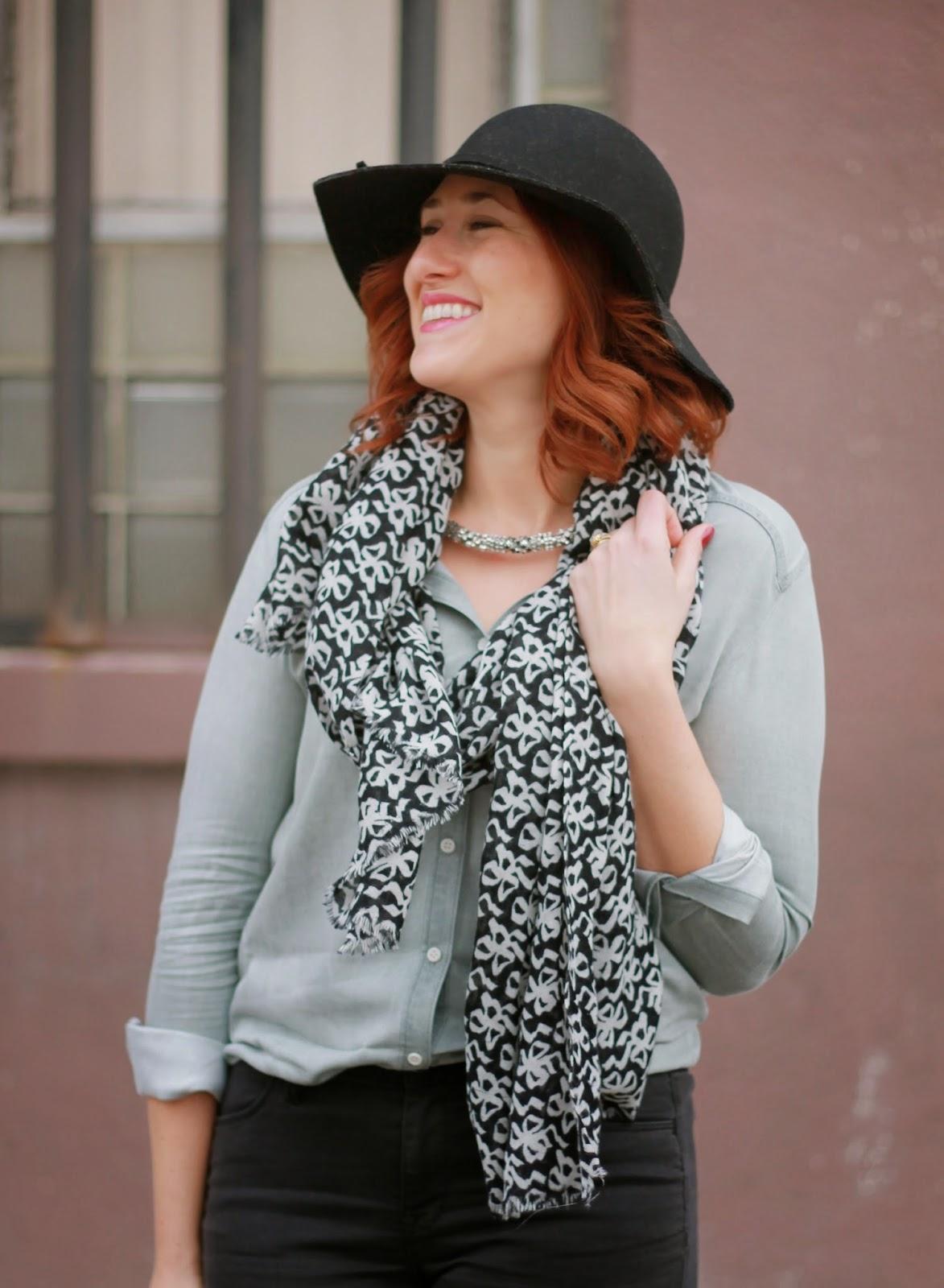 j, crew, printed, wool, scarf, bows