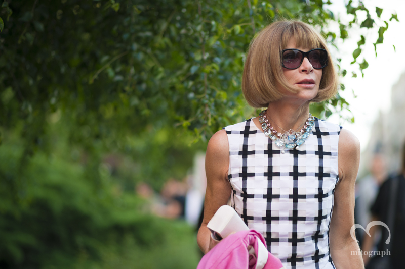 Anna Wintour wearing Marni After Saint Laurent Paris Paris Mens Fashion Week 2014 Spring Summer PFW Street Style Shimpei Mito