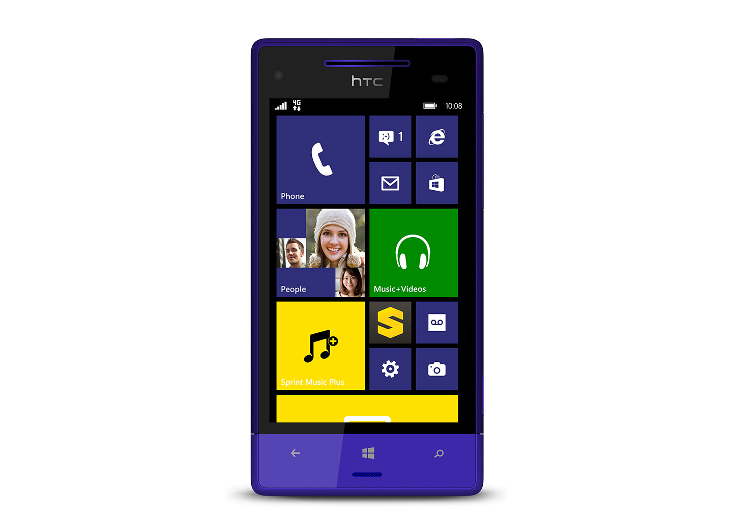 Sprint launches htc 8xt screen 4 3 400 snapdragon for Windows phone