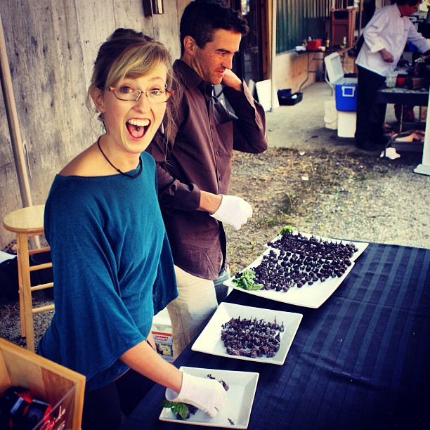 Allison Mackenzie And Sebastien Woodroffe Of Darkside Chocolates Dishing Out Delish At Flavoursept