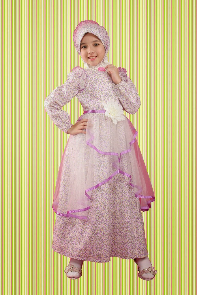 Model Baju Gaun Muslim Anak Cewek Modern