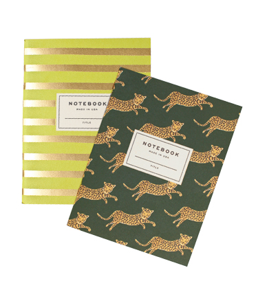 rifle leopard notebook