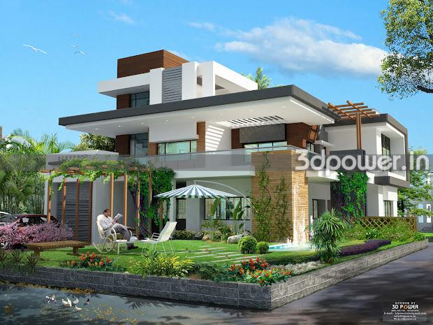 Modern 3D House Rendering