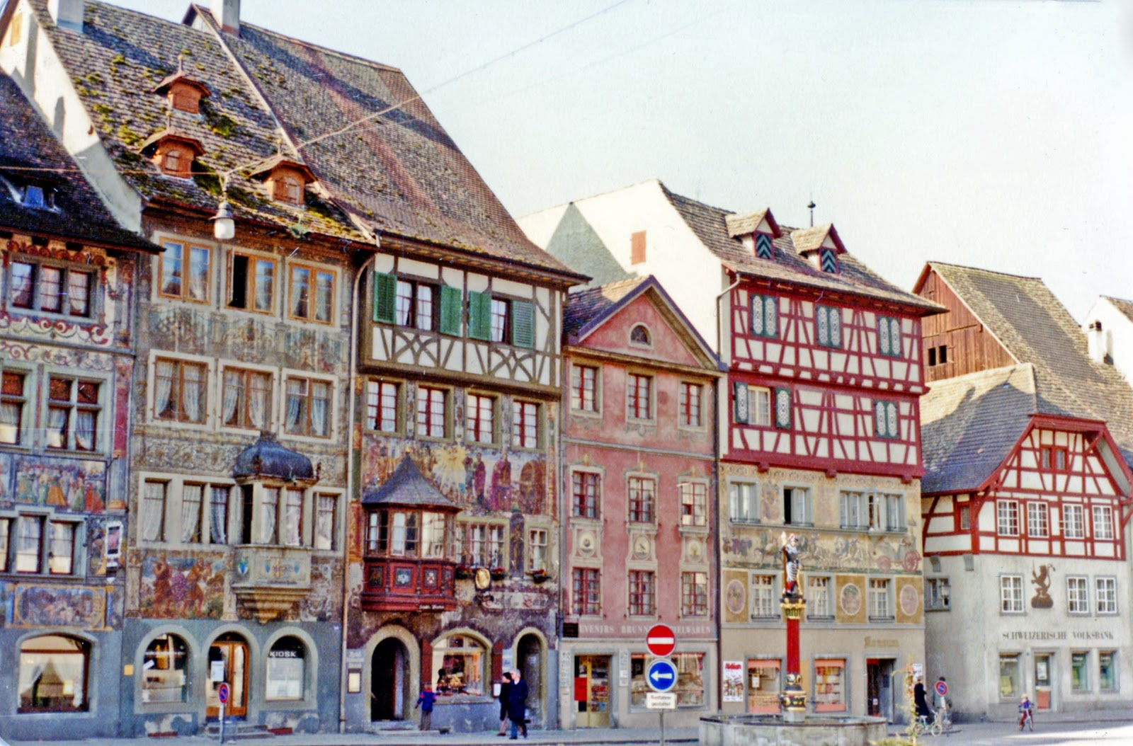 Rathausplatz Buildings With Painted Façades