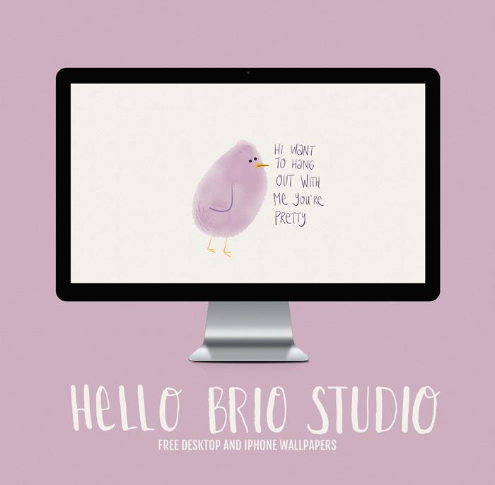 Free Doodled Bird Wallpaper Backgrounds for Desktop and iPhone - HelloBrio.com