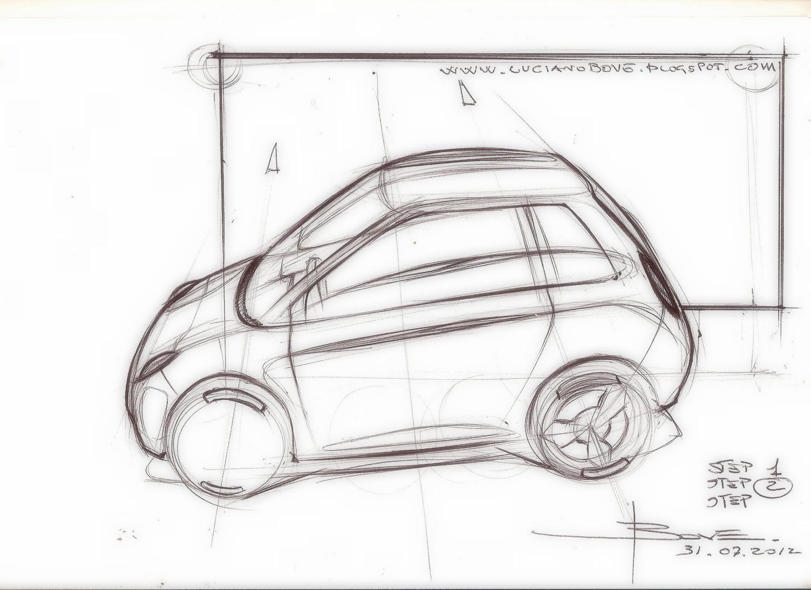 Car sketch tutorial top perspective by Luciano Bove – www ...