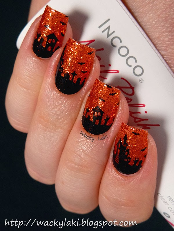 these nail wraps named fright night are namesake for the incoco fright night halloween collection this year these are perfect for some quick nail art to