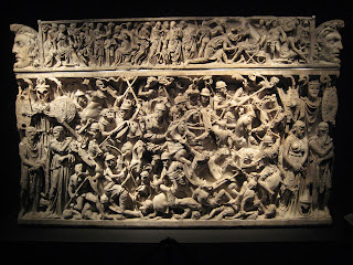 Impressive sarcophagus at the Palazzo Massimo alle Terme.  I stared at it for awhile.  So much detail!