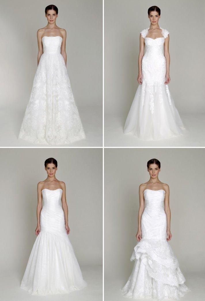 Bridal fashion show 2013 bridal gowns by monique lhuillier for Cheap modern wedding dresses