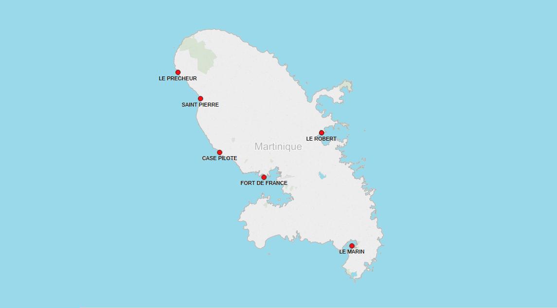 PORTS IN MARTINIQUE