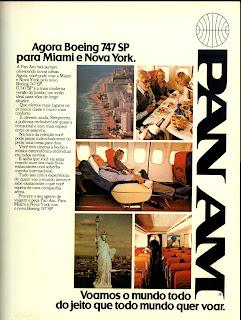 propaganda Pan Am - 1979. 1979.os anos 70; propaganda na década de 70; Brazil in the 70s, história anos 70; Oswaldo Hernandez;