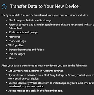 Transfer BB10 dengan Blackberry Link - Step 2