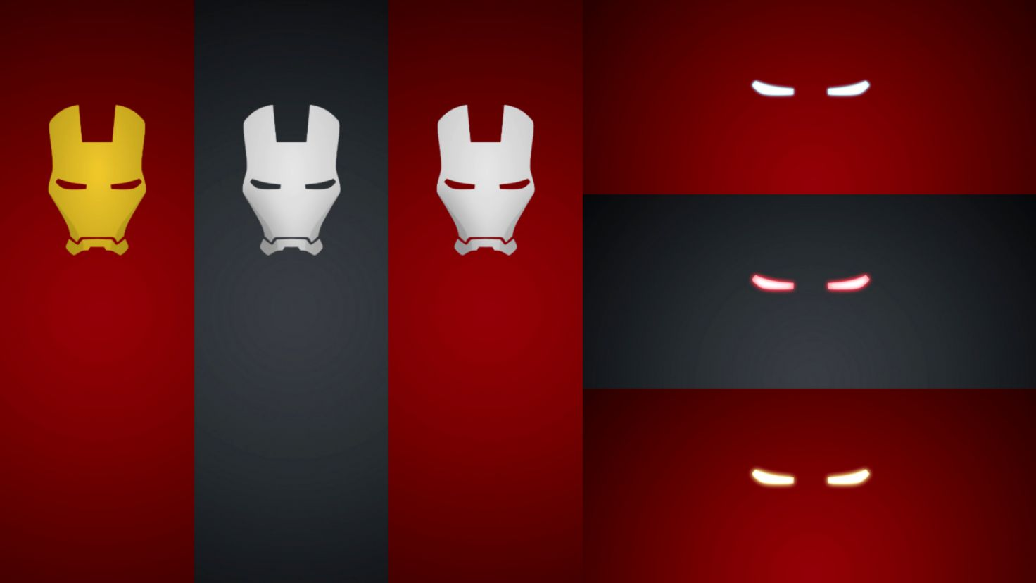 Iron Man Red Minimalism Hd Wallpaper Best Wallpapers Hd Gallery