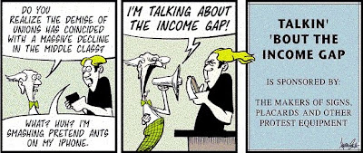 Rudy Park, Income Gap.