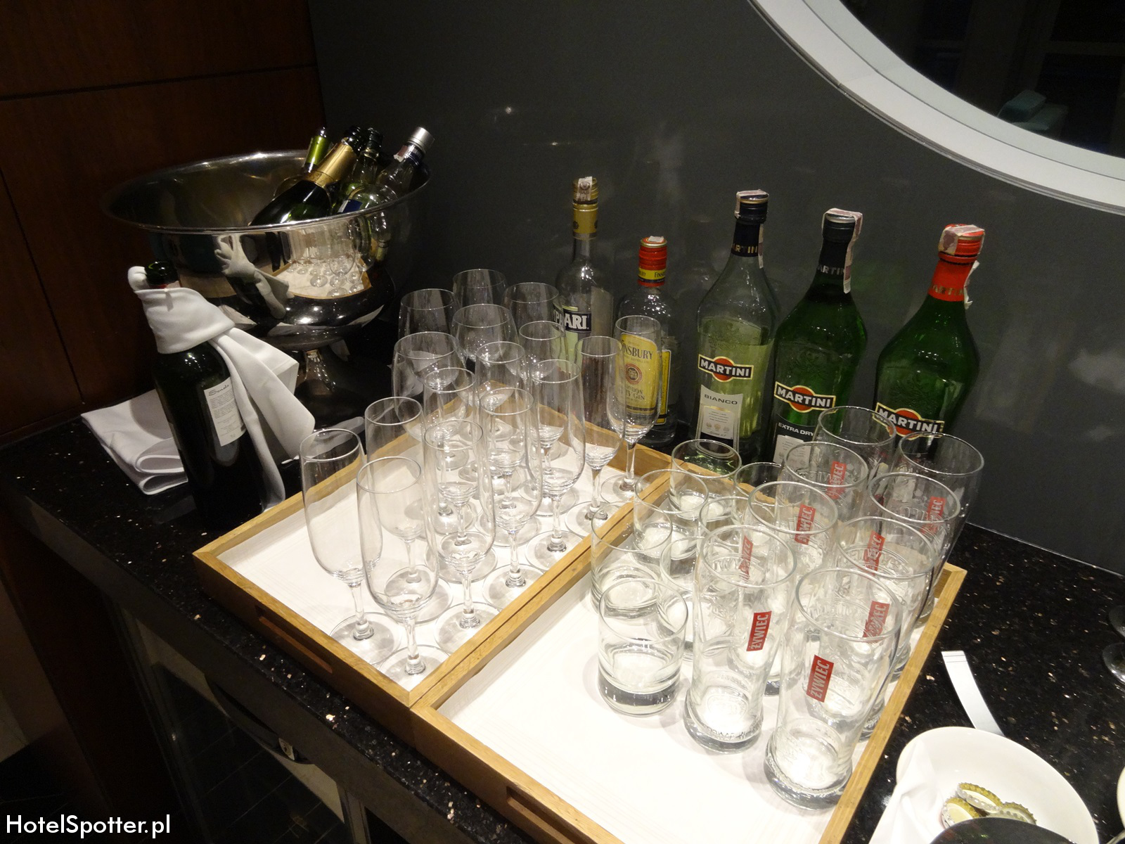 Executive Lounge w Hilton Warsaw - alkohol