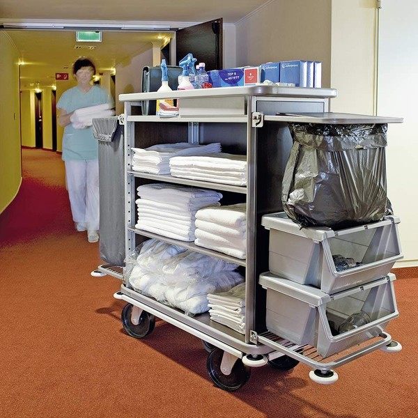 SOP Hotel Housekeeping Trolley Or Maids Cart Setting