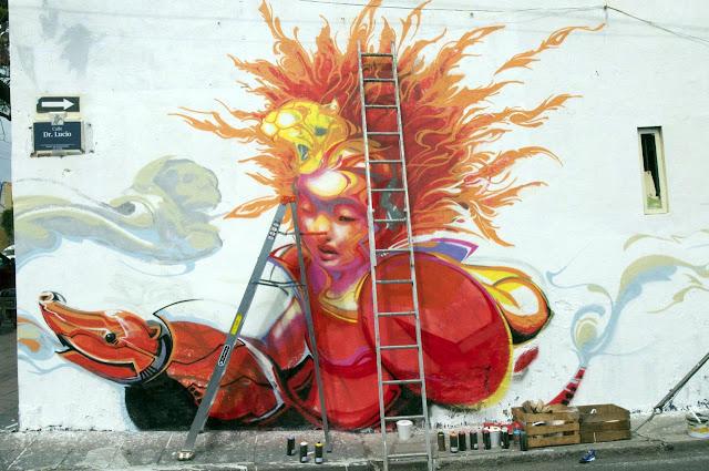 Street Art By Kenta Torii In Queretaro , Mexico For The Board Dripper Festival. 2