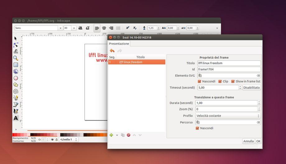 Sozi Inkscape in Ubuntu