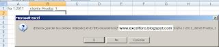 VBA: Ejecutar macro antes de cerrar Libro: Workbook_BeforeClose.
