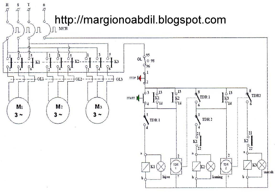 Bagirgiono abdil ber gambar 5 diagram pengawatan 3 buah motor bekerja secara bergantian otomatis ccuart Images