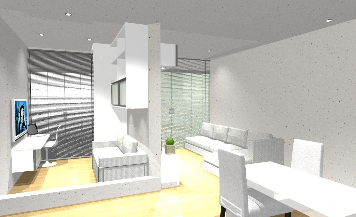 Back arquitetura consultoria daniel mayra home office c for Sofa cama armario