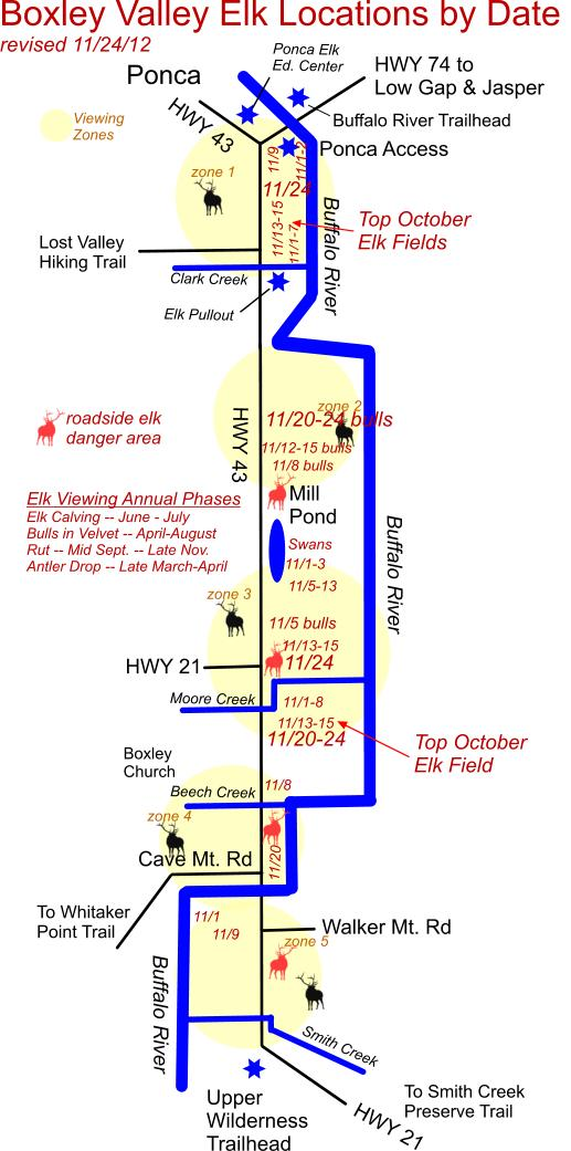 11/24/12 Elk Herd Location Map