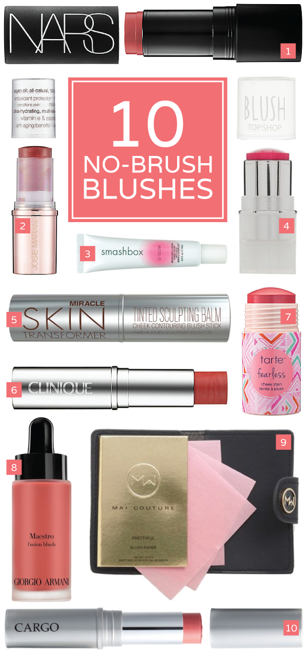 10 no-brush + no-fuss blush options!