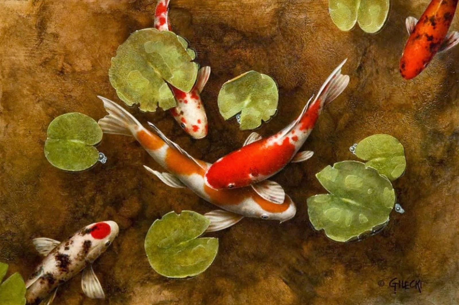 Cuadros modernos pinturas y dibujos 12 10 13 for Pintura para estanques de peces