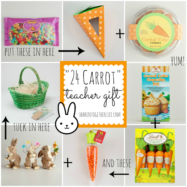 24+Carrot+Gift+Basket+Collage+BLOG 24 Carrot Teacher Gifts & Virtual Spring Party with World Market {a guest post}
